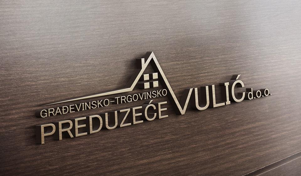 """Novi logo Građevinsko-trgovinskog preduzeća """"Vulić"""""""