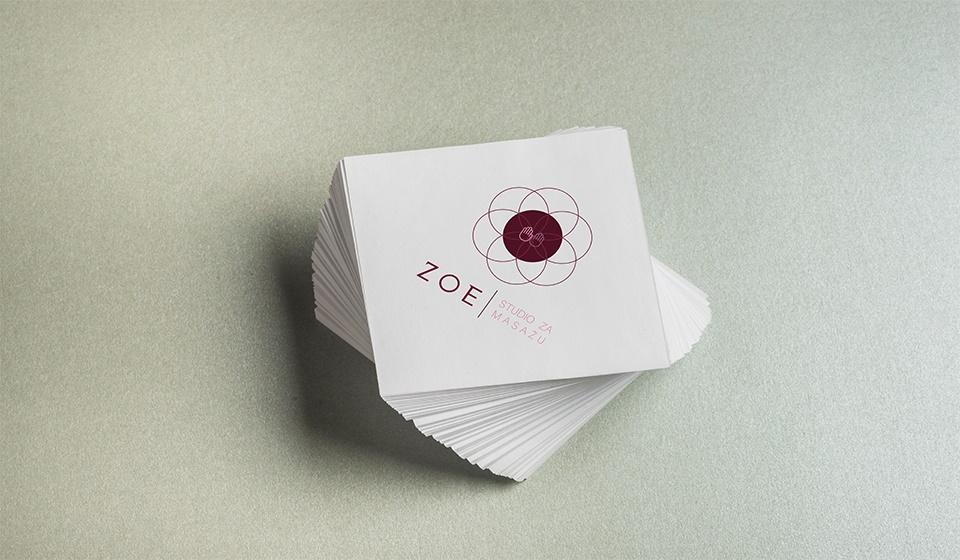 Novi logo studija za masažu ZOE